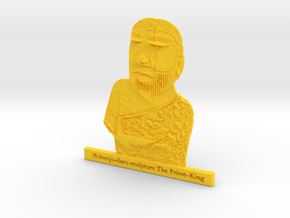 Mohenjo-daro Sculpture The Priest-King in Yellow Strong & Flexible Polished