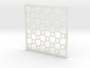 Mosaic Chess Board in White Processed Versatile Plastic