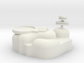 Small Asteriod Base #1 in White Natural Versatile Plastic