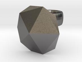 Ico diamond ring in Polished Nickel Steel