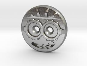 Minion Shirt Button in Natural Silver