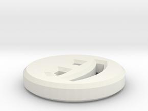 Blink Shirt Button in White Natural Versatile Plastic