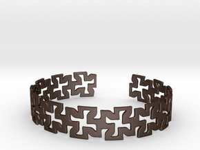 Khandi bangle D Single in Matte Bronze Steel
