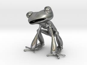 Frog 3,8 cms in Natural Silver