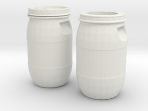 30 liter Drum Set in White Natural Versatile Plastic