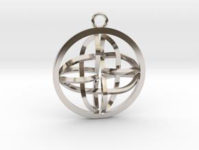 Celtic Cross Pendant in Platinum
