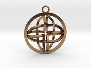 Celtic Cross Pendant in Natural Brass