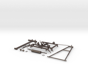 Pantograph Tenth Scale in Polished Bronzed Silver Steel