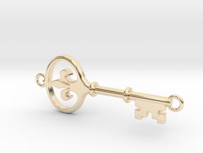 Kappa Key - Hooped Top Bottom in 14K Yellow Gold