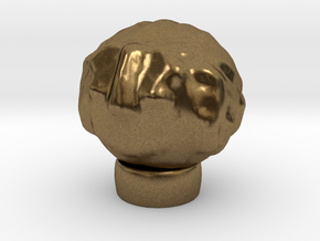 Sculptris Head With Hair On Tinkercad Ring in Natural Bronze