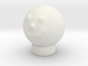 Sculptris Head Smiley Meme On Tinkercad Ring in White Natural Versatile Plastic