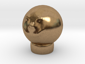 Sculptris Head Smiley Meme On Tinkercad Ring in Natural Brass
