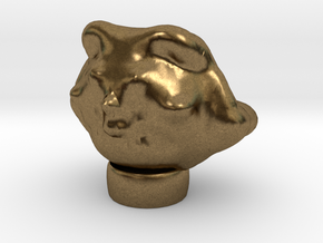 Egyptian Cat Head Made On Sculptris in Natural Bronze