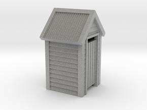 O Scale Wooden Outdoor Toilet Dunny 1:48 in Metallic Plastic