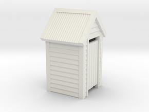 O Scale Wooden Outdoor Toilet Dunny 1:48 in White Natural Versatile Plastic