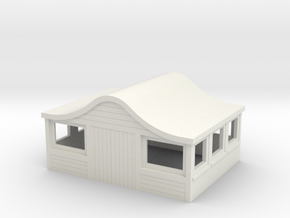 Bombay Roof for American Models S scale Caboose in White Natural Versatile Plastic