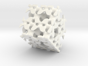 Fractal L in White Strong & Flexible Polished
