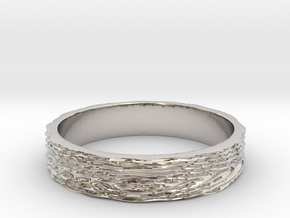 Wave of Energy Ring Size 7 in Platinum