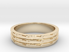Greater Than Three Ring Size 7 in 14K Yellow Gold