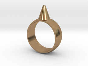223-Designs Bullet Button Ring Size 6.5 in Natural Brass
