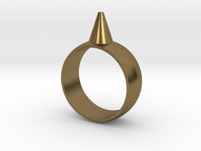 223-Designs Bullet Button Ring Size 7.5 in Natural Bronze