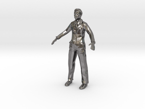 MAKEHUMAN man in Polished Nickel Steel