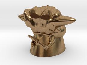 Cool Yoda in Natural Brass