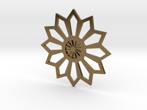 Moroccan Flower Pendant in Polished Bronze