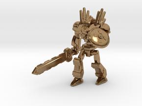 Mayan Doom Bot #2 in Natural Brass