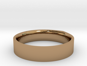 """LINE""_Women ring in Polished Brass"