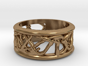 Antlered-Size 10 in Natural Brass