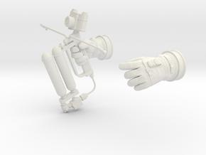 Gemini Astronaut EVA / 1:6 / Gloves, HHMMU in White Natural Versatile Plastic