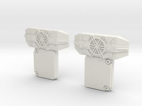 Pair of T-Bits in White Natural Versatile Plastic