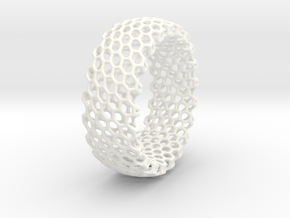 Regular Bracelet in White Processed Versatile Plastic