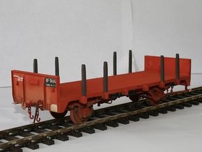 NZR 9mm/P34 Nc Wagon and Chassis in White Strong & Flexible