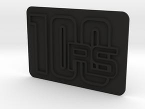100RS rear badge for dual seat in Black Natural Versatile Plastic