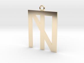 N Crossed Logo in 14K Yellow Gold