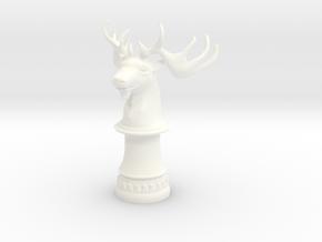 Wild Elk Knight (Round Base) in White Processed Versatile Plastic