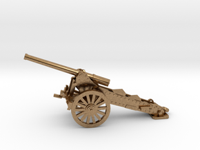 1/100, 1877 de Bange cannon, 155mm in Natural Brass