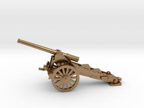1/100, 1877 de Bange 155mm cannon (low detail) in Natural Brass