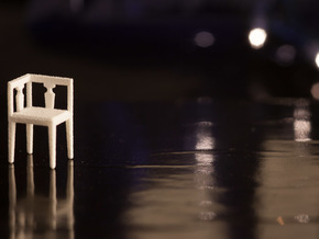 1:48 Corner Chair in White Natural Versatile Plastic