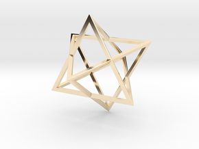 Merkaba Wire - 4cm in 14K Yellow Gold