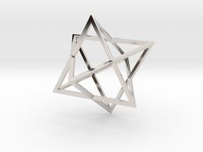 Merkaba Wire - 4cm in Platinum