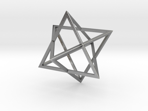 Merkaba Wire - 4cm in Natural Silver