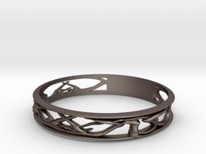 Antler Bracelet in Polished Bronzed Silver Steel