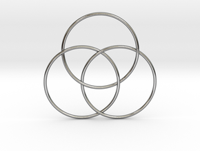 Trinity Circles in Polished Silver