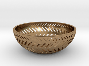Backslash Bowl in Natural Brass