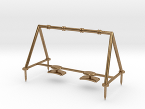 Children's Swings, HO Scale (1:87) in Natural Brass
