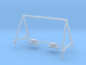 Children's Swings, HO Scale (1:87) in Smooth Fine Detail Plastic