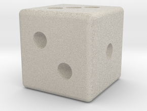 D3 Dice in Natural Sandstone